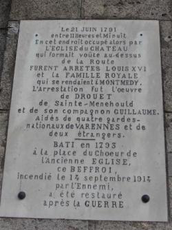 VT1 : Plaque à Varennes