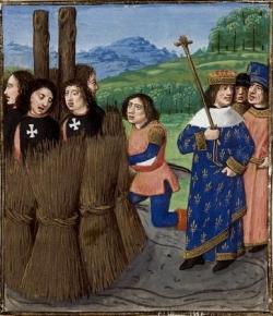 VT2 : les Templiers conduits au bûcher