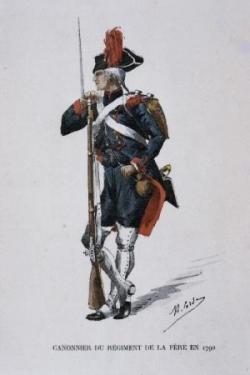 VT1 : Canonnier du régiment de la Fère vers 1790