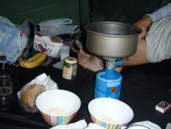 Cuisine sous la tente