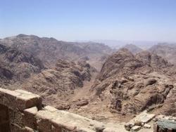 Vue du haut du Mont Sinaï