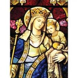 Vitrail de la Vierge à l'Enfant