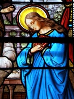Vierge Marie - vitrail 2