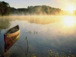 Barque au petit matin