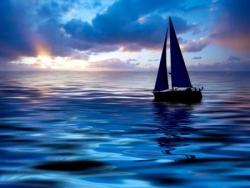 Voilier sur la mer 1