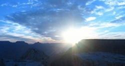 Soleil au grand canyon
