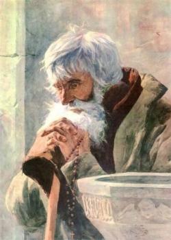 Vieil homme en prière