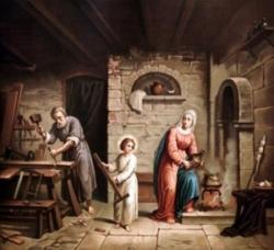 St Joseph et la Sainte Famille