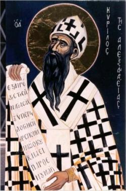 St Cyrille d'Alexandrie (✝ 444)