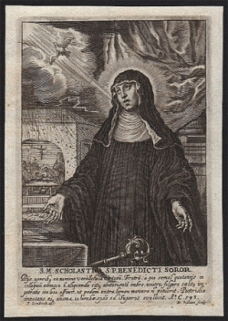 Ste Scholastique (✝ 543)