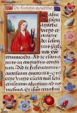 Ste Agathe († 254)