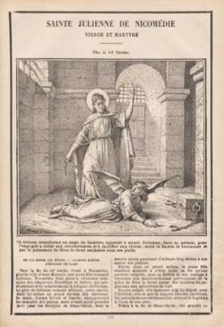 Ste Julienne de Nicomédie (✝ 299)