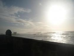Vue sur mer des remparts...
