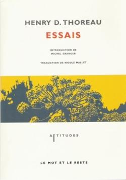ESSAIS/HENRY D. THOREAU