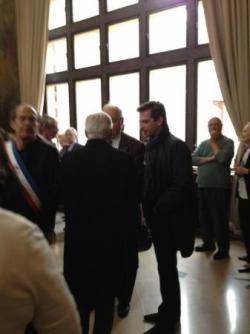 A la cérémonie du 8 mai à la Mairie du 12eme