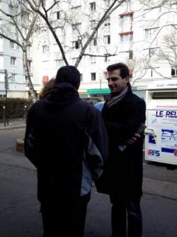 Benoît Pernin au quartier Saint Eloi