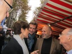 Benoit Pernin, Yves Censi, Chantal Jouanno au marc