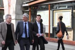 Benoît Pernin avec Hervé Morin lors de sa visite a