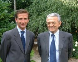 Benoît Pernin et Jean Arthuis, ancien ministre des