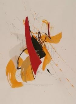 Maxime 2, encre et collage sur papier, 2006