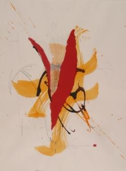Maxime 1, encre et collage sur papier, 2006