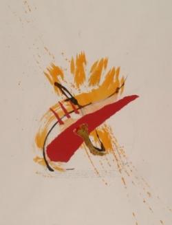Maxime 3, encre et collage sur papier, 2006