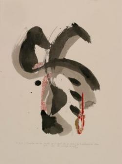 Pensée 8, encre et collage sur papier, 2005