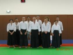 Mokhtar bennari en stage aikido