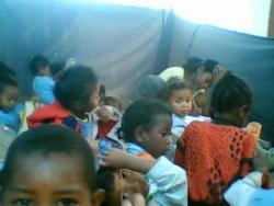 dans la salle de Maternelle