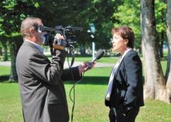 En pleine interview en septembre 2012