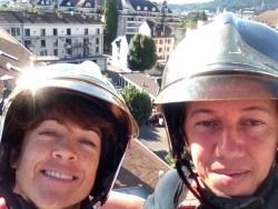 sur les toits avec les pompiers d'Annecy