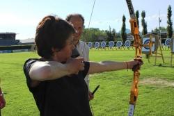 essai de tir à l'arc avec le club d'Annecy
