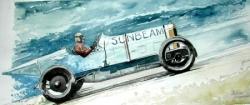 Aquarelles autos et pilotes
