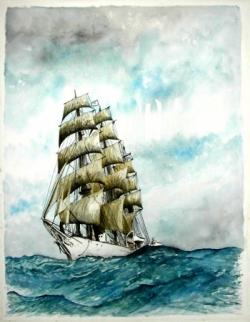 4 mâts barque