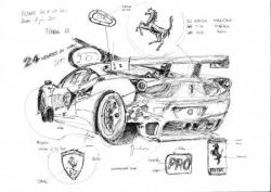 Ferrari 458 croquis pesage LM 2011