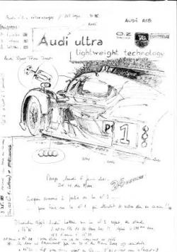 Audi RT 18 croquis pesage LM 2011