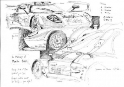 Ford GT Robertson Racing croquis pesage LM 2011