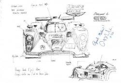 Lola Aston Martin n°22 croquis pesage LM 2011