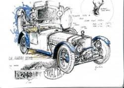 Croquis Le Mans Classic 2012