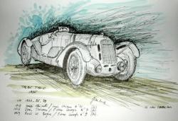 Croquis autos anciennes