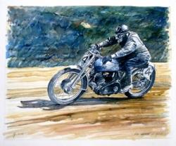 Vincent 500 Comet at speed