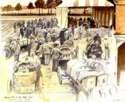 Pesage et vérifs GP 1906