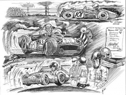 Triumph TR3 racing