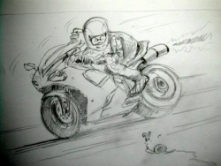 crayonné-esquisse Ducati