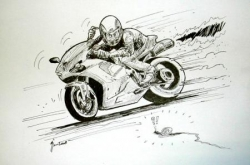 Dessin terminé de la Ducati