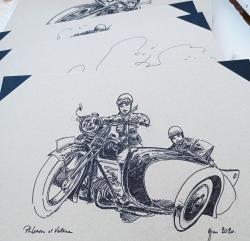 Philomenn et Victoire... carton à dessin