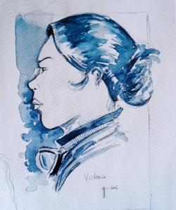 Victoire en aquarelle