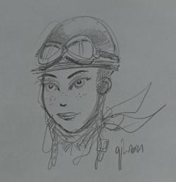 Portrait crayonné Philomenn