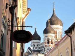 En approche de la Cathédrale Saint Alexandre Nevsk