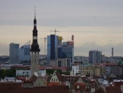 Vue sur la Ville Moderne (Été)